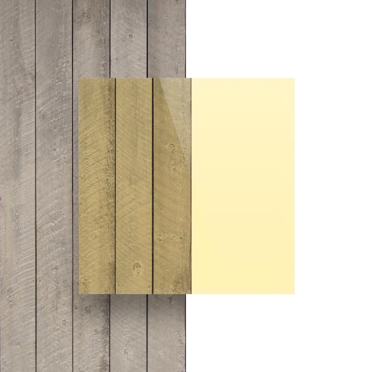 Plexiglas voorkant fluor geel