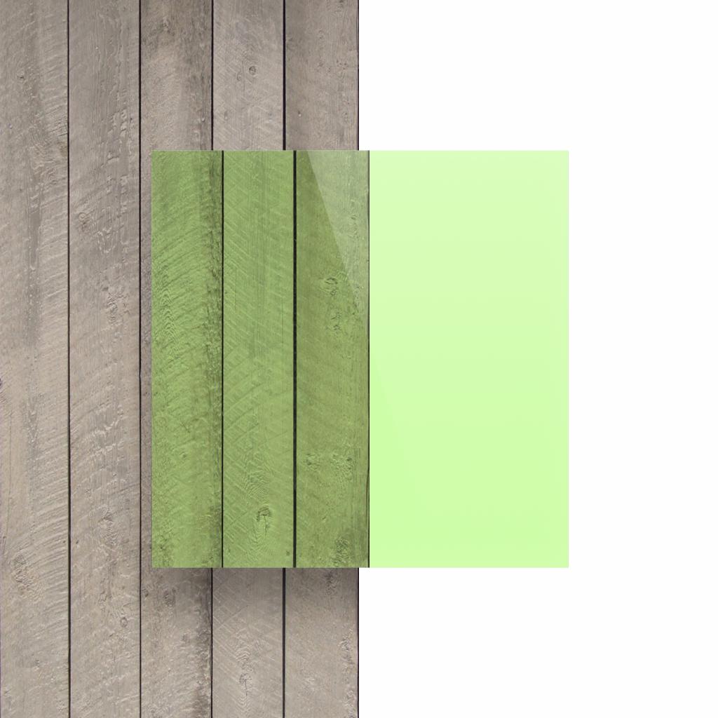 Plexiglas voorkant fluor groen