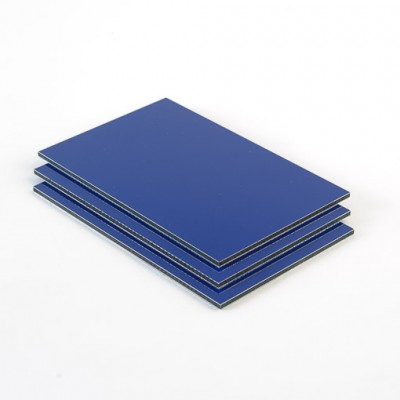 Dibond aluminium sandwichplaat blauw mat glans