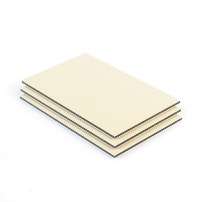 Dibond aluminium sandwichplaat ivoor mat glans