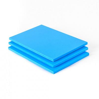 Geschuimd PVC plaat lichtblauw