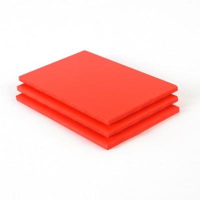 Geschuimd PVC plaat rood