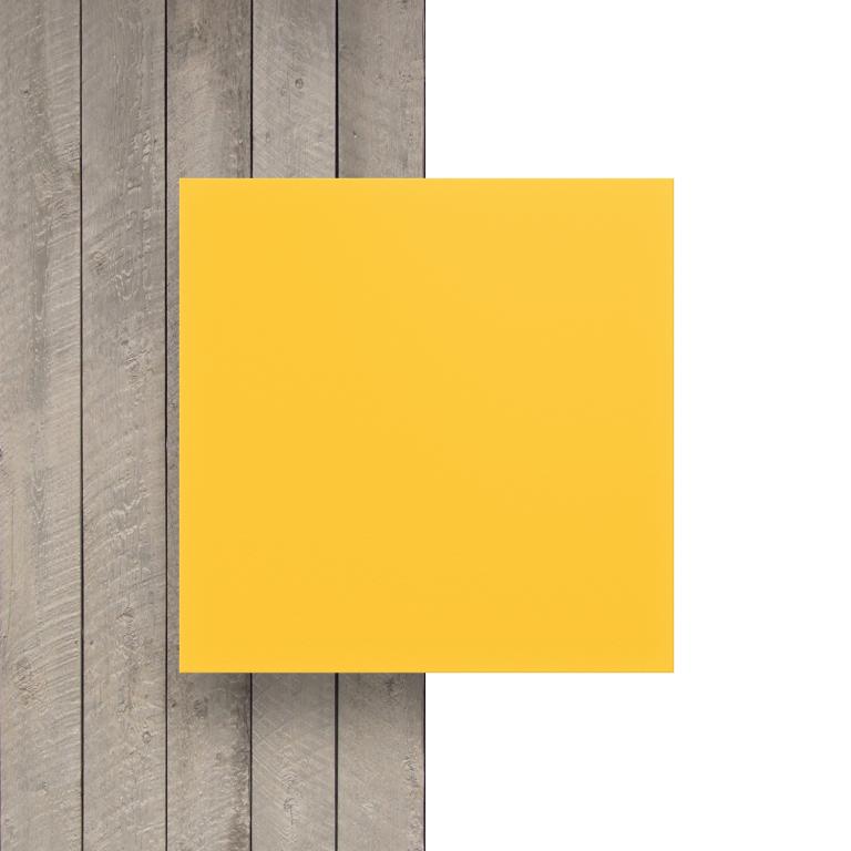Geschuimd PVC voorkant geel