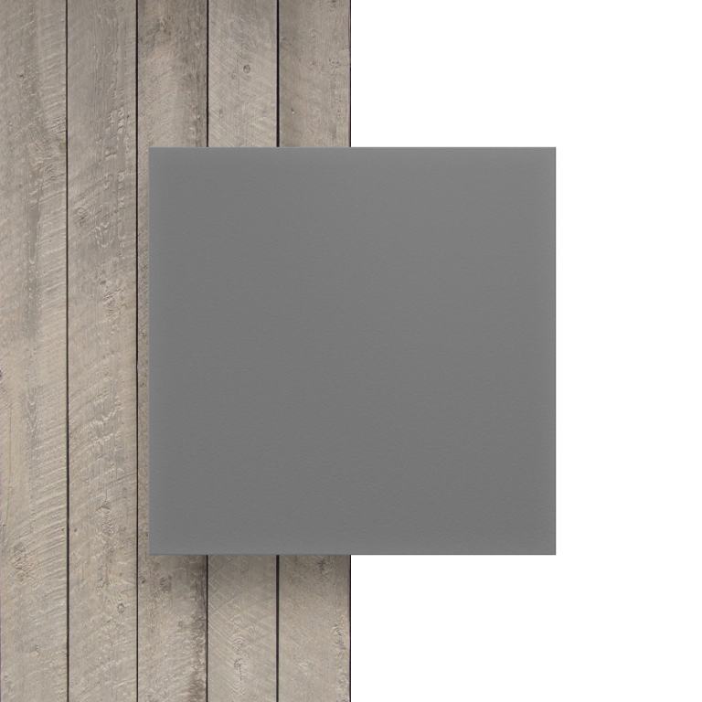 Geschuimd PVC voorkant grijs