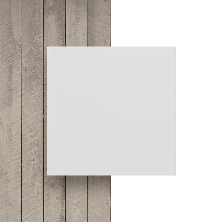 Geschuimd PVC voorkant wit