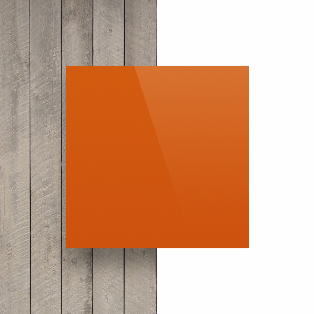 Alupanel voorkant oranje