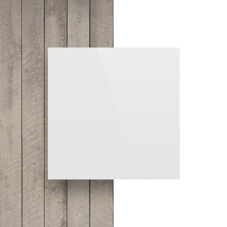 Alupanel voorkant wit