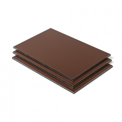 Dibond aluminium sandwichplaat bruin