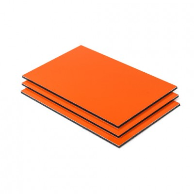 Dibond aluminium sandwichplaat oranje