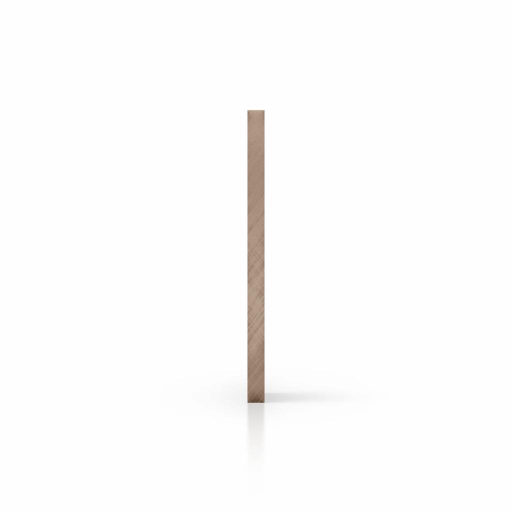 Plexiglas getint zijkant bruin