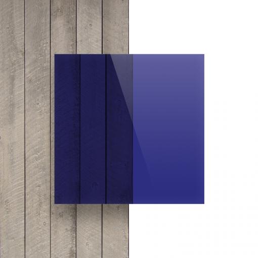 Plexiglas voorkant getint blauw