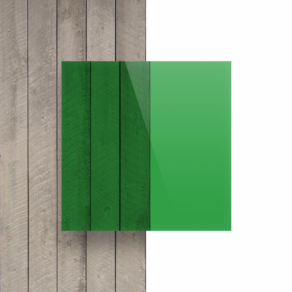 Plexiglas voorkant getint groen