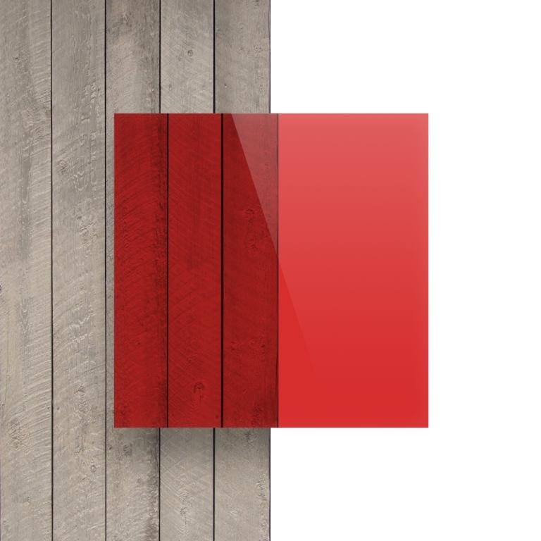 Plexiglas voorkant getint rood