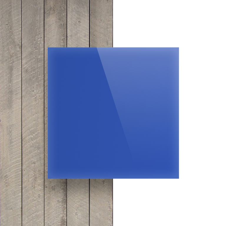 Plexiglas voorkant opaalblauw