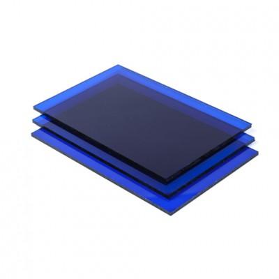 blauw plexiglas plaat