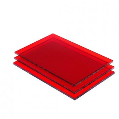 rood plexiglas platen
