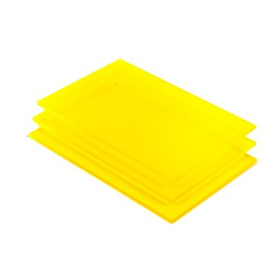 Geel fluor Plexiglas