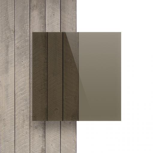 Plexiglas voorkant getint bruin