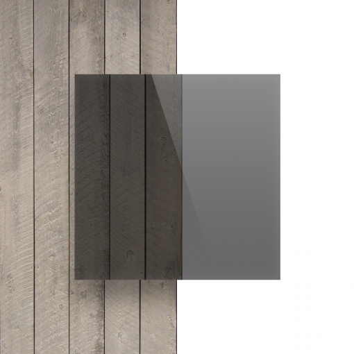 Plexiglas voorkant getint grijs