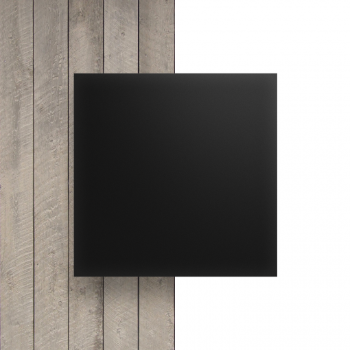 Plexiglas voorkant satijn ebony mat