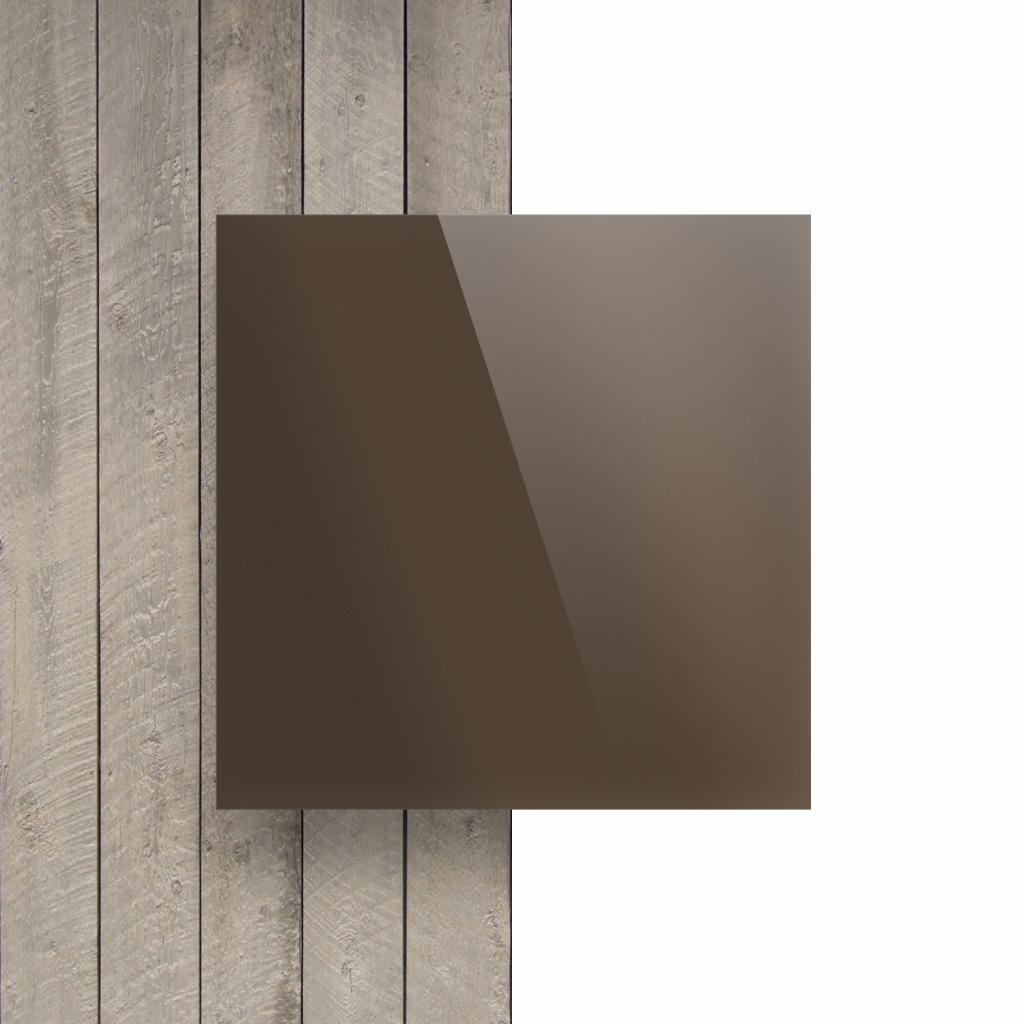 Plexiglas voorkant spiegel brons