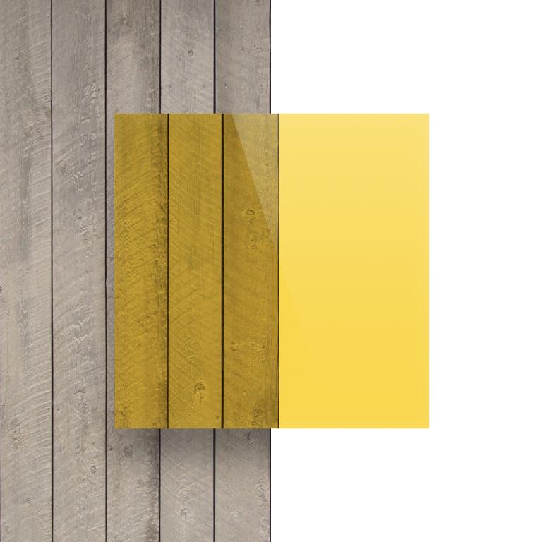 Plexiglas voorkant getint geel