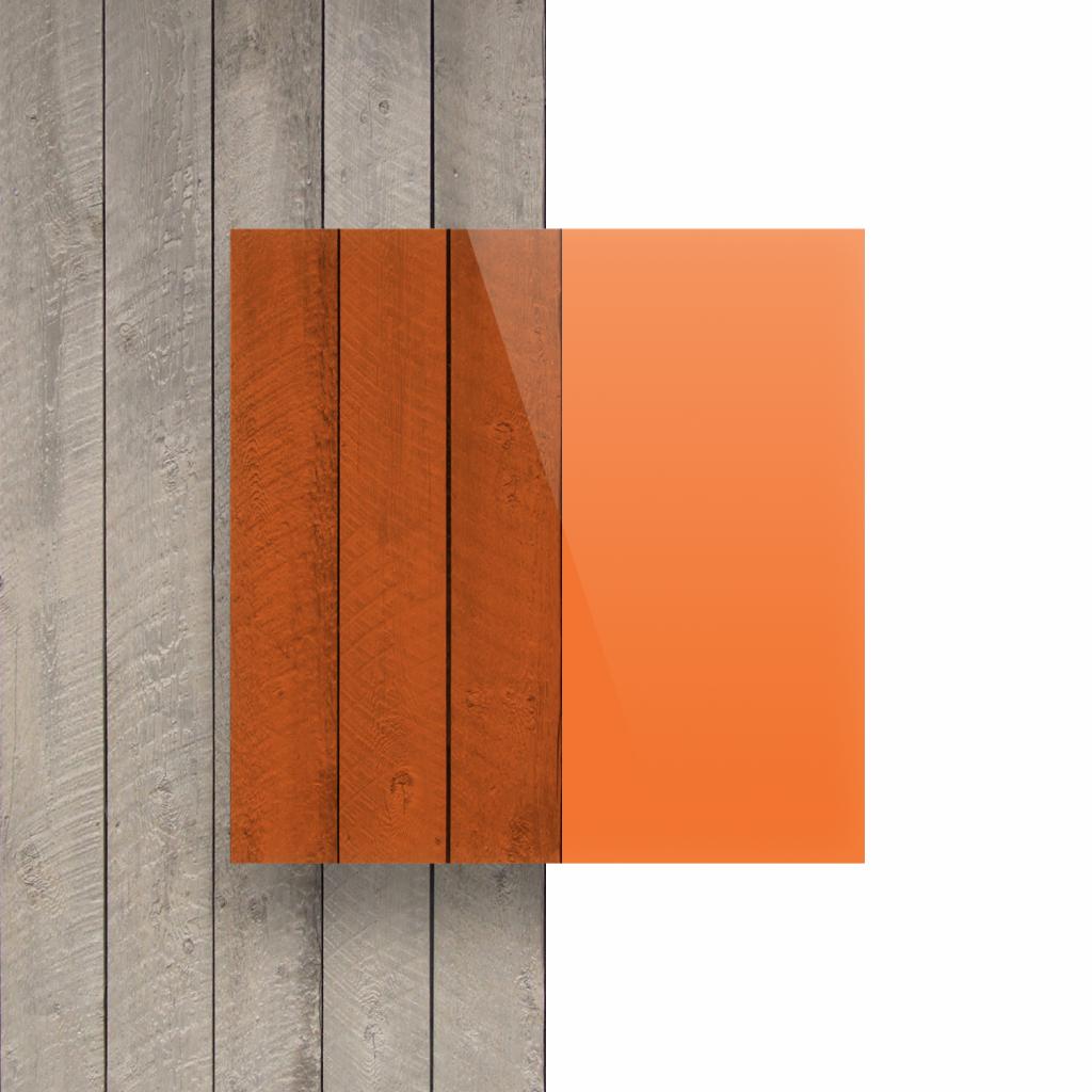 Plexiglas voorkant getint oranje