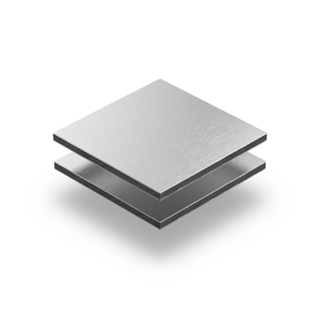 Aluminium geborsteld alupanel