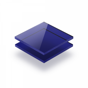 Blauw getint plexiglas