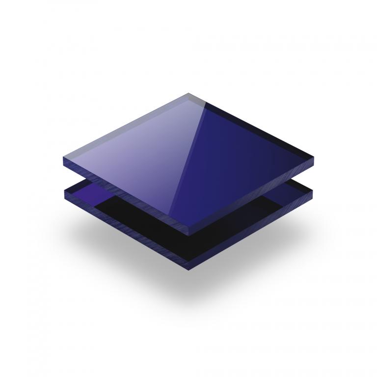 Blauw spiegel plexiglas