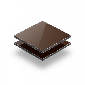 Bruin aluminium sandwichplaat RAL 8011