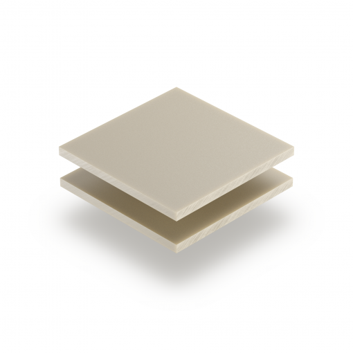 Crème mat satijn plexiglas