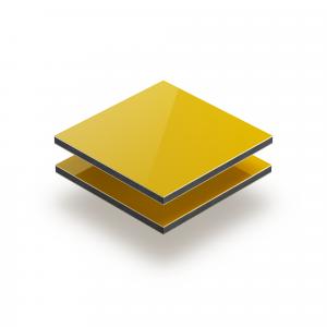 Geel aluminium sandwichplaat RAL 1023