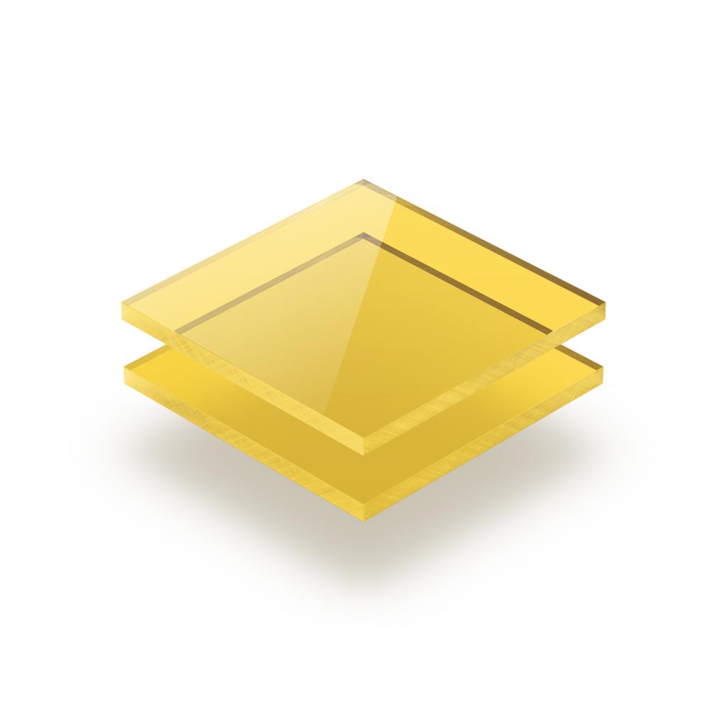 Geel getint plexiglas