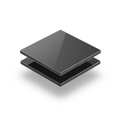 Grijs aluminium sandwichplaat RAL 7016
