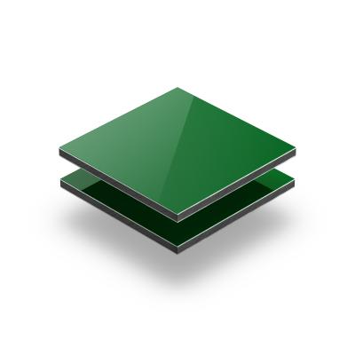 Groen aluminium sandwichplaat RAL 6024