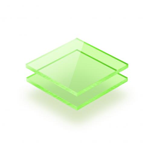 Groen fluor plexiglas