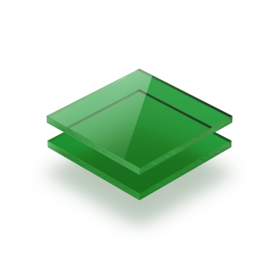 Groen getint plexiglas