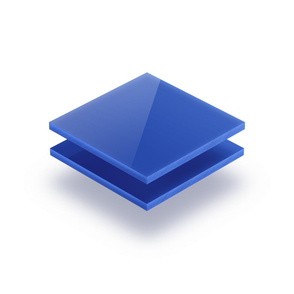 Opaalblauw plexiglas