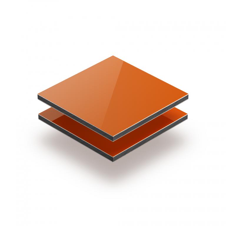 Oranje aluminium sandwichplaat RAL 2004