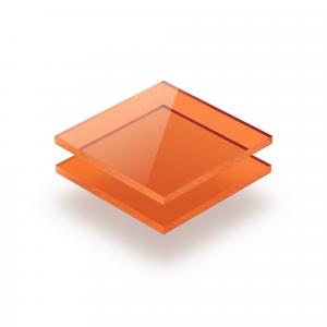 Oranje getint plexiglas