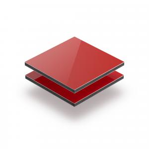 Rood aluminium sandwichplaat RAL 3020