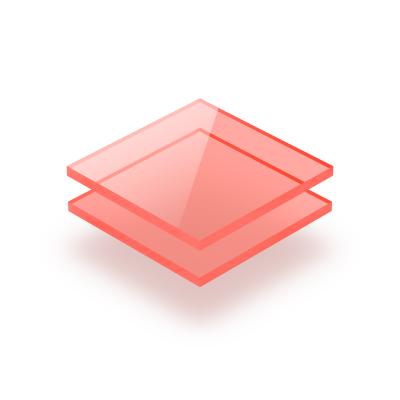 Rood fluor plexiglas