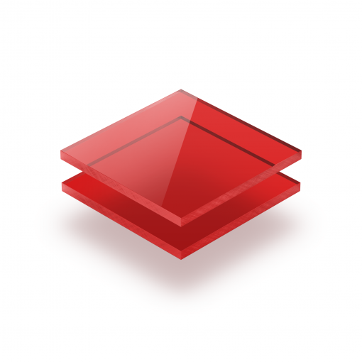 Rood getint plexiglas
