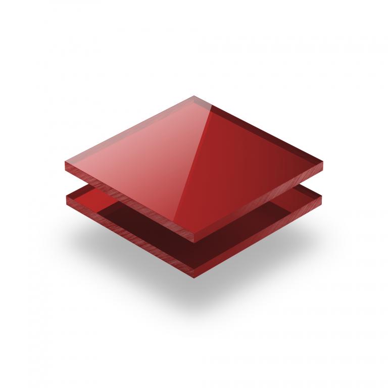 Rood spiegel plexiglas