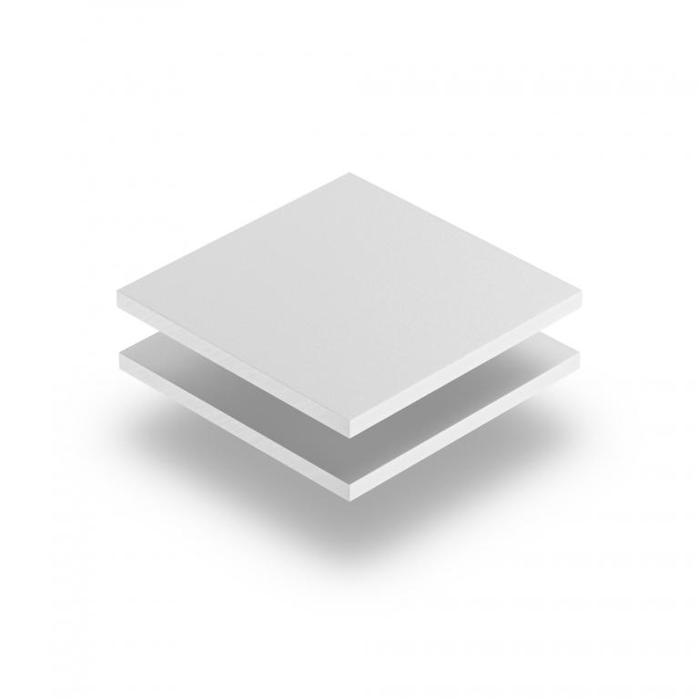 Wit PVC geschuimd RAL 9003