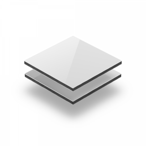 Wit glans aluminium sandwichplaat RAL 9003