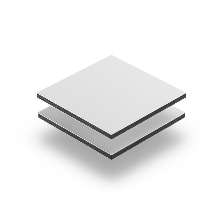 Wit mat aluminium sandwichplaat