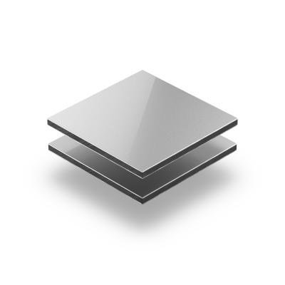 Zilver aluminium sandwichplaat RAL 9006