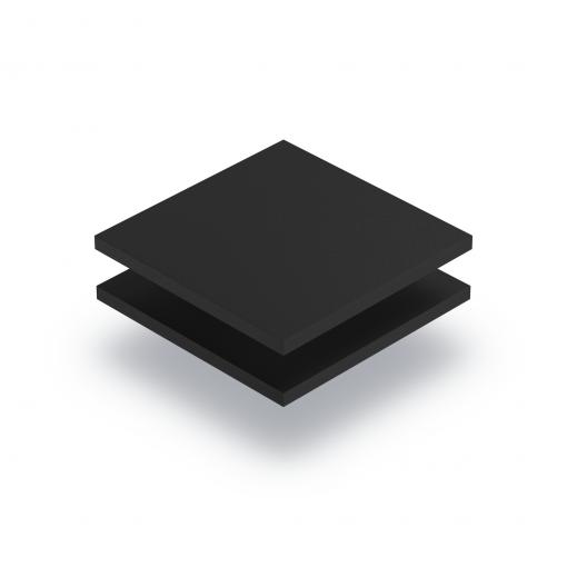 Zwart PVC geschuimd RAL 9004